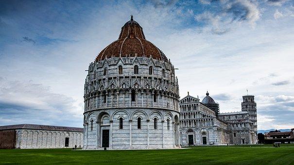 Pisa, Tuscany, Baptistery, Culture, Tourists, Tourism