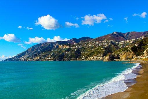 Coastal Malfitano, Costa, Sea, Amalfi Coast, Horizon
