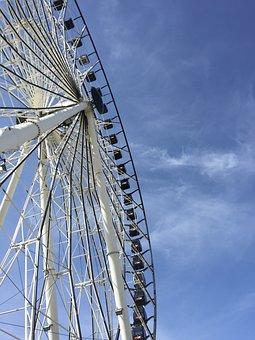 Roller Coaster, Games, Puebla, Fair, Mountain, Sky