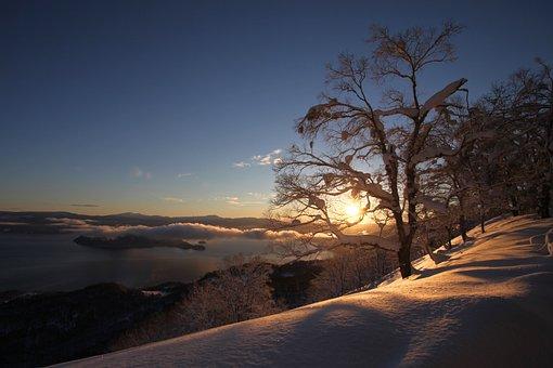 Sunrise, Snow, Mountain, Morning, Landscape, Sky