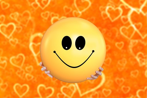 Smilie, Smiley, Hands, Keep, Love, Yellow, Face, Comic