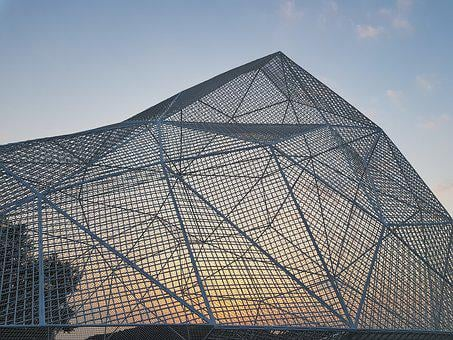 Sou, Structure, Art Site, Installation, Sunset