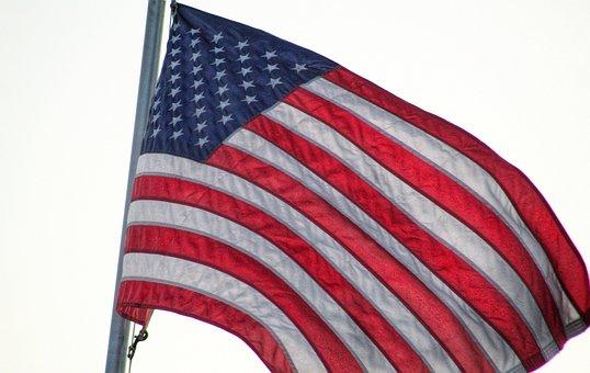 Flag, Flagpole, Old Glory, America, Star And Stripes