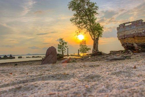 Sunset, Landscape, Nature, Sunrise, Sky, Sun, Outdoor