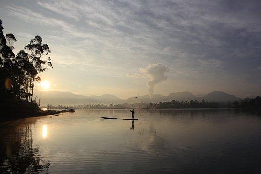 Lake, Water, Sunset, Canal, Nature, Reflection, Summer