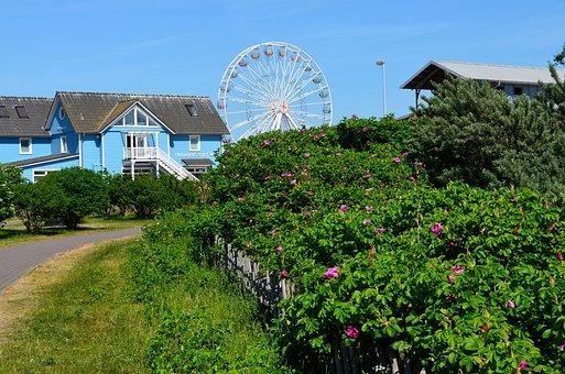 Sylt, List, Ferris Wheel, Port, North Sea, Island, Sea