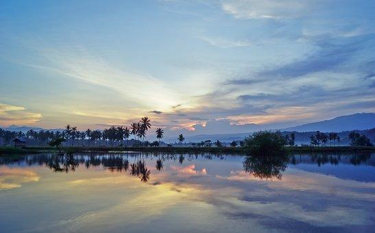 Landscape, Lake, The Sky, Twilight, View, Beautiful