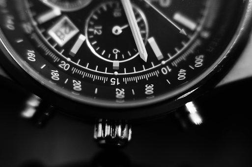 Watch, Black And White, Time, Style, Minute, Gray Time