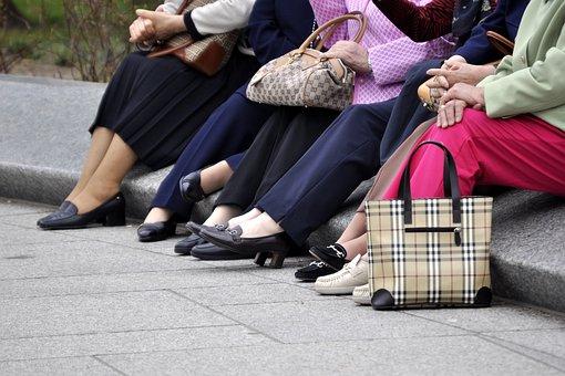 Tourists, Tired, Feet, Aching, Resting, Seniors, Trip