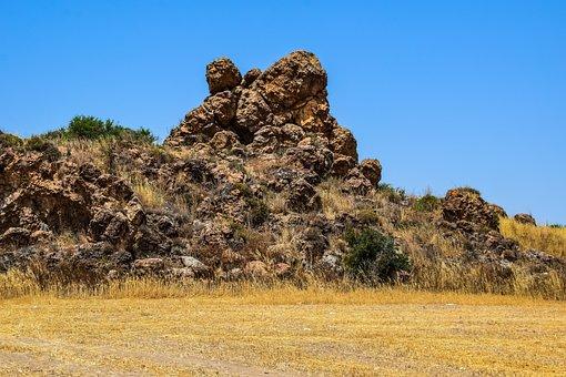 Cyprus, Troulli, Hephaestus Caves, Rock, Caves, Geology