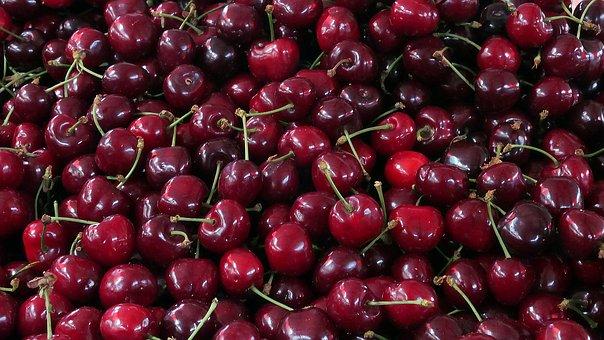 Cherries, Fruit, Market, Cherry, Food, Sweet, Vitamin