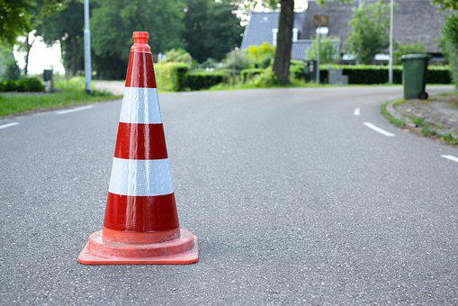 Safety Cone, Road, Traffic, Construction, Sign, Warning