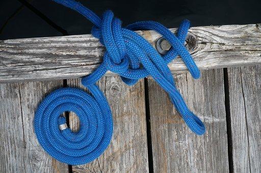 Blue, Line, Cord, Pier, Wood, Coil, Backdrop, Design