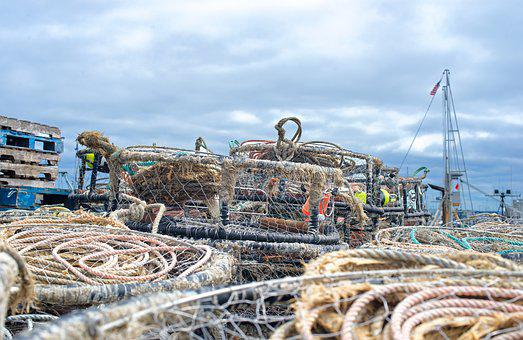 Crab Pots And Rope, Background, Texture, Fishing, Crab