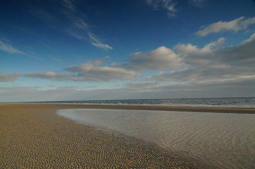 Beach, Island, Sea, Coast, Watts, Lake, Dunes, Sky