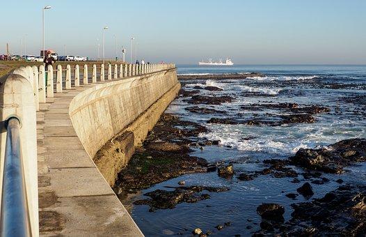 Greenpoint Promenade, Sea, Water, Pier, Beach, Ocean