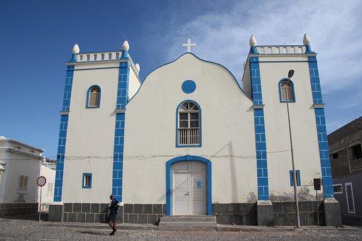 Cape Verde, Boa Vista, Church, Sal Rei Centre, Holiday