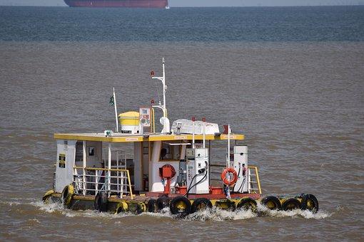 Rio, Amazon, Boat, Brazil, Post, Gasoline, Amazon River