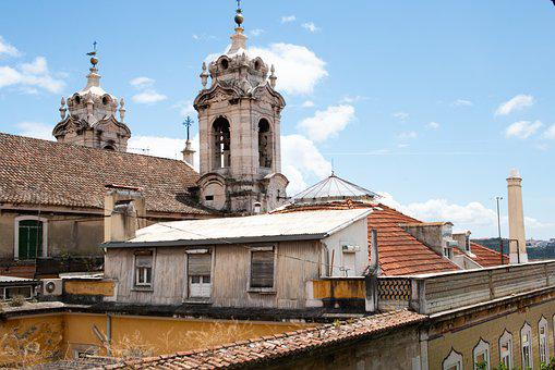 Lisbon, Portugal, Lapa, Architecture, Sky, Buildings