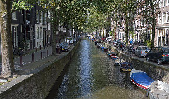 Amsterdam, Canal, Canals, Channel, Water, City, Boats