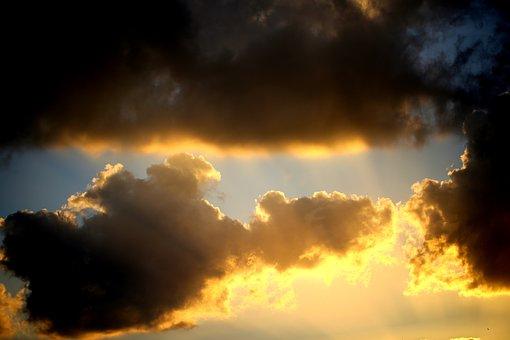 Cloud, Sun, Sunset, Sky, Weather, Cloudscape, Storm