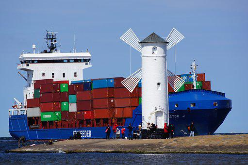 Ship, Container, Container Ship, Freighter, Shipping