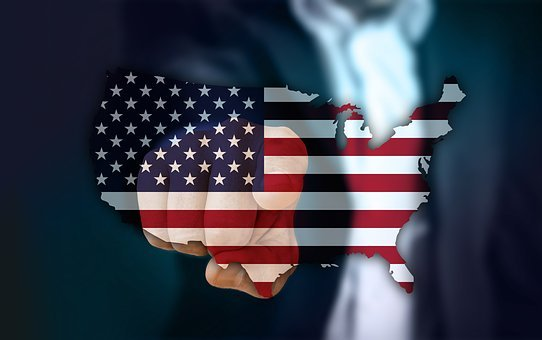 Businessman, Usa, Map, Hand, Touch, Finger, Contact