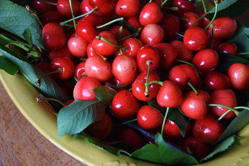 Cherry, Basket, Fruit, Collection