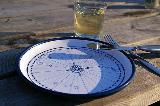 Maritime, Maritime Dishes, Compass, Holiday, Cutlery