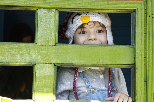 Infante, Eyes, Happy, Window, Smile, Eyes Marones, Look