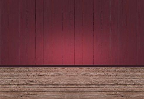 Room, Space, Empty, Interior, Ground, Wood, New