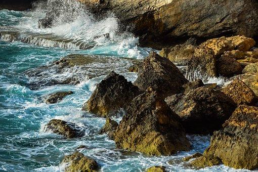Rocky Coast, Rock, Sea, Landscape, Waves, Rough Sea