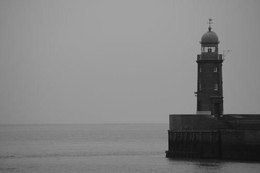 Lighthouse, River, Sea, North Sea, Port, Weser, Holiday