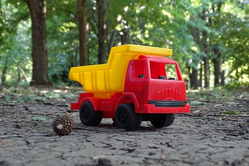 Truck, Toy, Trucking, Car, Childhood, Load