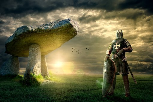 Knight, Dolmen, Lanyon Quoit, Middle Ages, Crusader