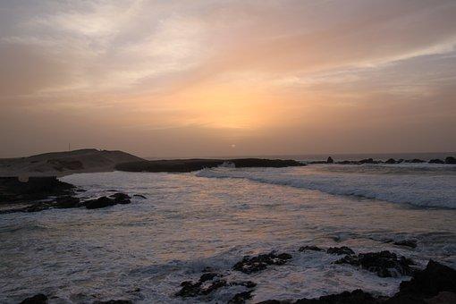 Cape Verde, Boa Vista, North Atlantic, Sunset, Beach