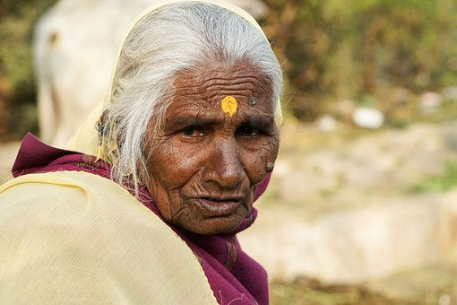 Woman, India, Indian Woman, Tradition, Old Woman, Hindu