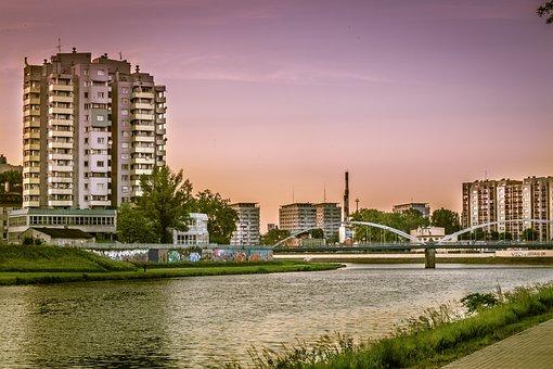 The Skyscraper, High-rise Building, Opole, River
