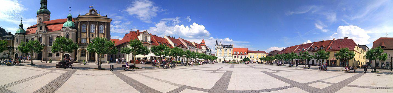 Pszczyna, City, The Market, People, Poland, Monuments