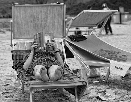 Person, Woman, People, Reading, Book, Lying Down