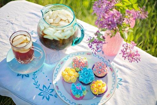 Iced Tea, Summer, Cupcakes, Refreshments, Ice, Tea