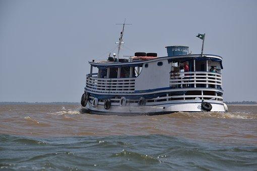 Rio, River, Amazon, Boat