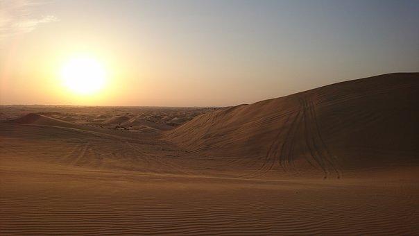 Desert, Arab Emirates, Sand