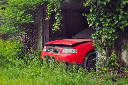 Lost Places, Garage, Auto, Old, Broken, Scrap