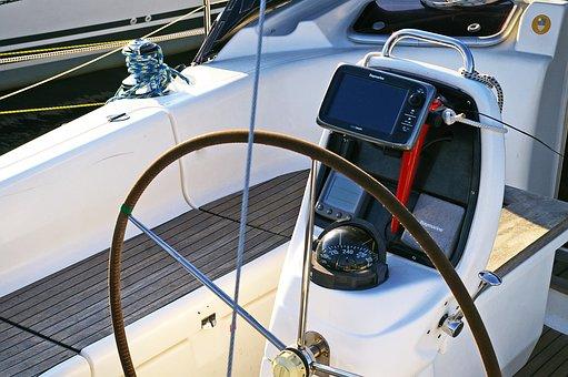 Sailing Boat, Steering Wheel, Control, Ship, Seafaring