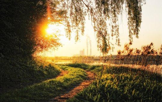 The Sun, Sunset, Twilight, Sky, Evening