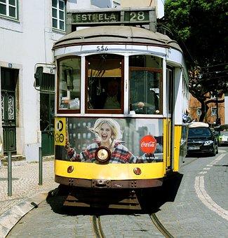 Means Of Transport, Tram, Lisbon, Transport, Traffic