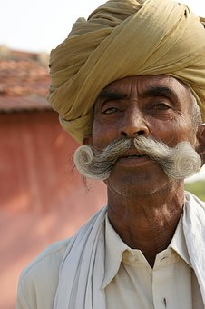 Indian, Indians, Man, Hindu, Face, Portrait, Turban