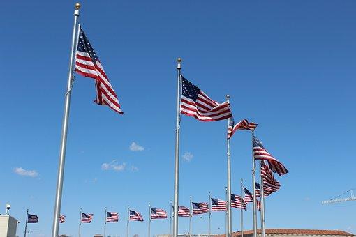 American Flag, Washington, D, C, Flag, American, Usa
