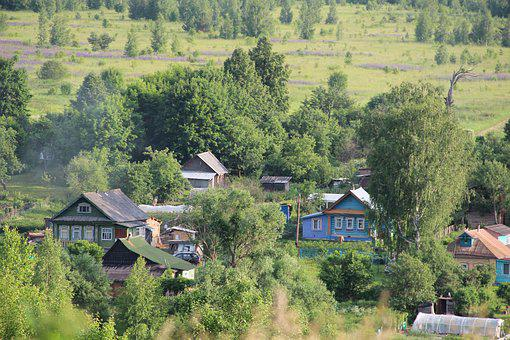 Village, House, Countryside, Wooden House, Russia